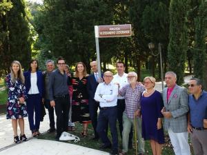 20 settembre 2019 - intitolazione della via dedicata ad Alessandro Leogrande a Tirana