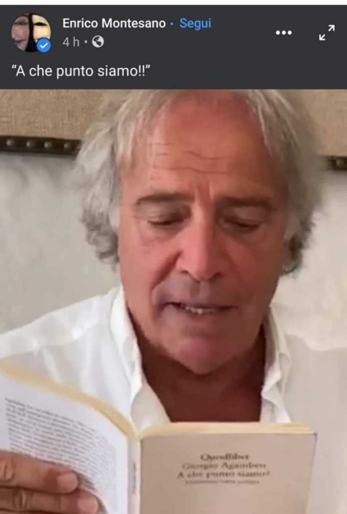 Enrico Montesano legge Agamben