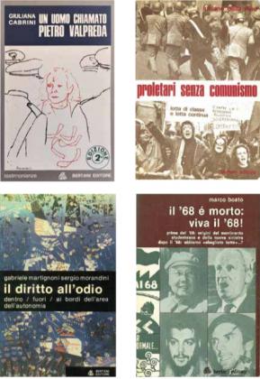 Uan serie di copertine dal catalogo Bertani riprodotte nel volume